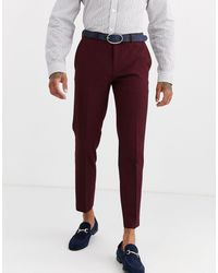Burton Skinny Fit Trousers - Red