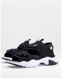 Nike - Черно-белые Сандалии С Тремя Ремешками Canyon-черный Цвет - Lyst