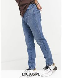Collusion X003 - Toelopende Jeans - Blauw