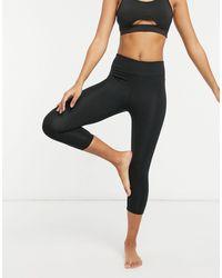 ASOS 4505 High-waist Contour Capri legging - Black