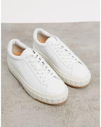 Reiss Baskets minimalistes à lacets style richelieu - Blanc