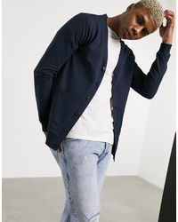 ASOS Muscle Jersey Cardigan - Blue