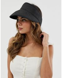 c93f5d8f2de Lyst - ASOS Oversized Straw Floppy Hat in Black