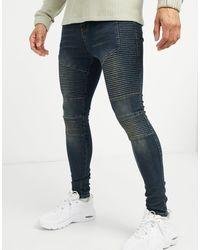 Good For Nothing Skinny Biker Jeans - Blue