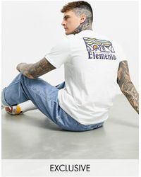 Element Wander Back Print T-shirt - White