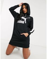 PUMA Черное Трикотажное Платье С Логотипом T7-черный