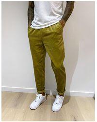 ASOS Cord Slim Trousers - Green