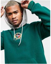adidas Originals Худи Из Флиса Зеленого Цвета С Университетской Эмблемой -зеленый