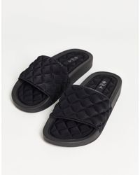 Call It Spring By Aldo Kaeaniell Vegan Quilted Slides - Black