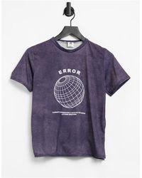 """Adolescent Clothing T-shirt da casa slavato con scritta """"error"""" - Grigio"""