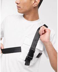 The Ragged Priest – es T-Shirt mit riemenverzierter Brusttasche - Weiß