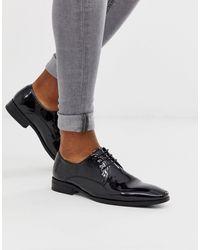 Office Черные Лакированные Туфли Дерби Со Шнуровкой Macro-черный - Многоцветный