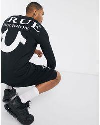True Religion Черный Лонгслив С Логотипом