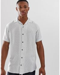 6102073b599 Jack   Jones Premium Revere Collar Short Sleeve Shirt In Paisley ...