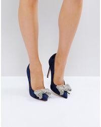 Kurt Geiger - Kg By Kurt Geiger Bow Pearl Detail Court Shoes - Lyst
