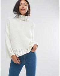 PRETTYLITTLETHING | Neck Detail Sweater | Lyst