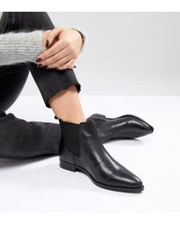 f2f4ed150fe Asos Automatic Wide Fit Leather Chelsea Boots