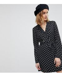 d2ec2bd27a61 Reclaimed (vintage) Inspired Floral Button Wrap Midi Dress in Black - Lyst