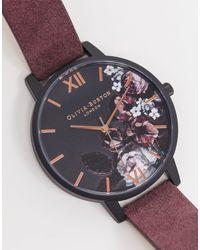 Olivia Burton Shoreditch - Horloge Met Edele Kunst - Rood