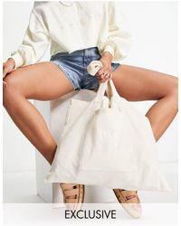 Reclaimed (vintage) Inspired Logo Tote Bag - White