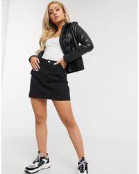 Missguided Denim Aline Mini Skirt - Black