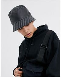 ASOS Bob imitation cuir à surpiqûres contrastées blanches - Noir