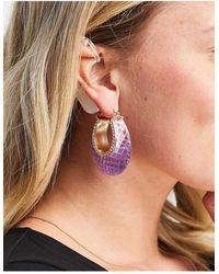 ASOS Hoop Earrings - Purple