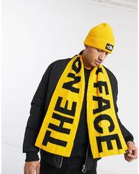 The North Face Желто-черный Шарф С Логотипом -желтый