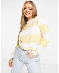 UNIQUE21 Sweat-shirt rayé - Blanc et jaune