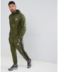 Nike - Colour Block Tracksuit Set In Green 928119-395 - Lyst