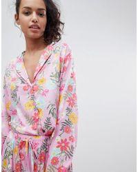 ASOS - Asos Bright Floral 100% Modal Traditional Shirt & Trouser Pyjama Set - Lyst