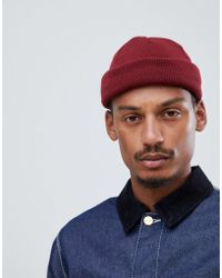 7b60ded8 Asos Mini Fisherman Beanie In Blue And Yellow Twist in Blue for Men ...