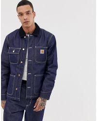 Carhartt WIP Michigan chore - Manteau en jean - Bleu