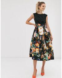Closet Wardrobe Pleated Skirt Dress - Black