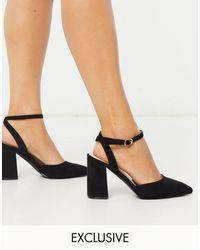Raid Wide Fit Эксклюзивные Черные Туфли На Блочном Каблуке -черный Цвет