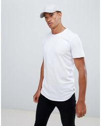 Jack & Jones - Originals Longline T-shirt With Curved Hem - Lyst
