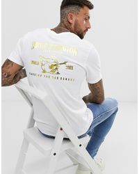 True Religion Camiseta con logo metalizado en blanco Buddah