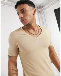 ASOS Camiseta ajustada con cuello - Neutro