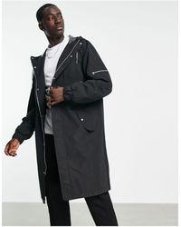 ASOS Longline Parka Coat - Black