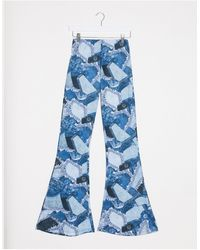 Jaded London Fitted Flares - Blue