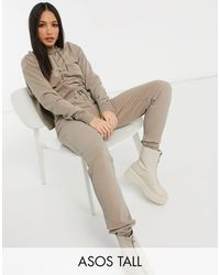 ASOS Asos Design Tall Tracksuit Hoodie / jogger - Brown