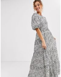 ASOS Shirred Tiered Maxi Dress - Multicolour