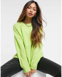 AX Paris Лаймовый Джемпер С Объемным Шевронным Узором И Косами -зеленый