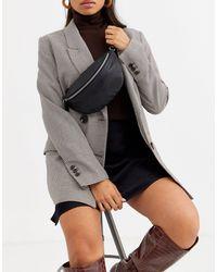 ASOS Leather Classic Bum Bag - Black
