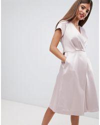 Closet - Tie Waist Dresss - Lyst