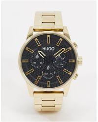 HUGO Золотистые Наручные Часы 1530152-золотой - Металлик