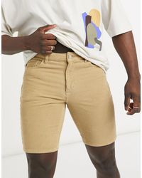 ASOS Slim Corduroy Shorts - Natural