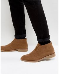 New Look | Faux Suede Desert Boots In Tan | Lyst