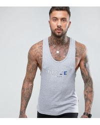 Nicce London - Nicce Tank In Gray With Tri Color Logo - Lyst
