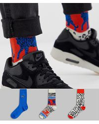 ASOS - 3 Pack Ankle Socks With Tiger And Zebra Design Save - Lyst